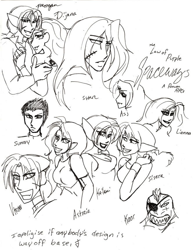 Spaceways characters